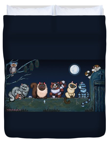 Moonlight On The Wall Duvet Cover