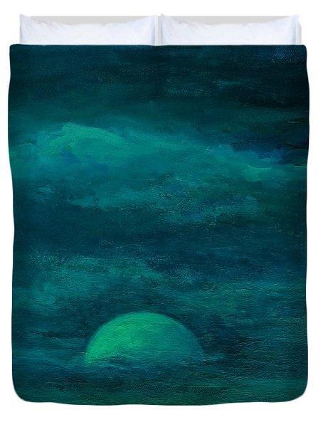 Moonlight On The Water Duvet Cover