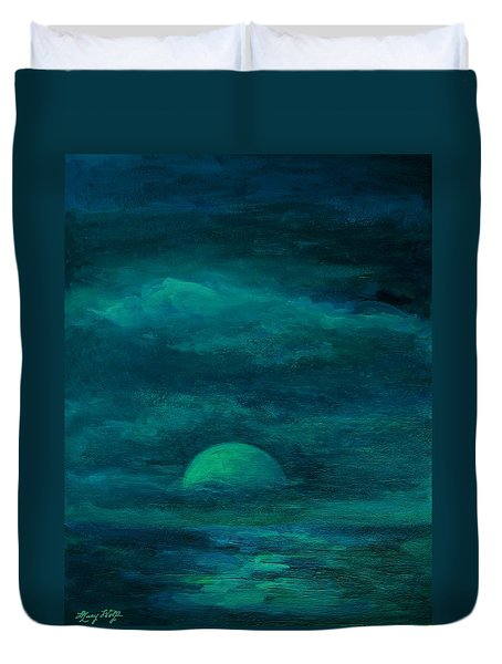 Moonlight On The Water Duvet Cover