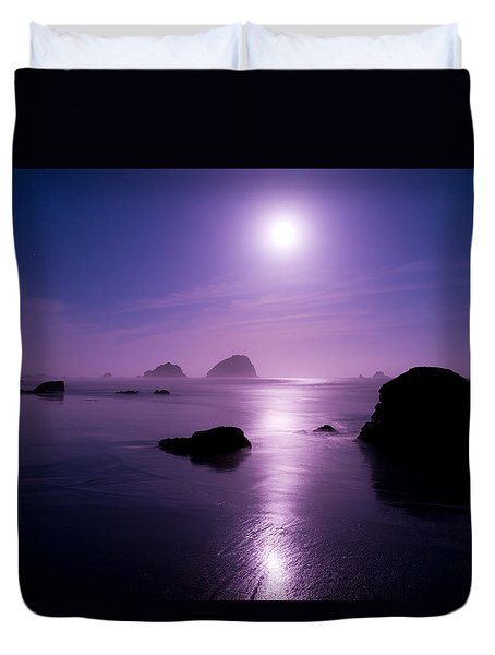 Moonlight Reflection Duvet Cover by Chad Dutson
