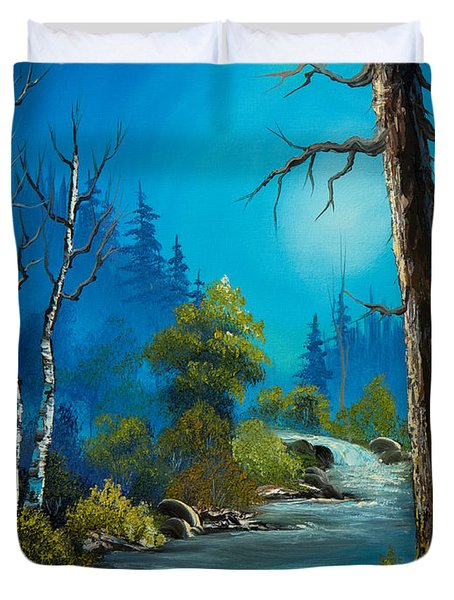 Moonlight Stream Duvet Cover by C Steele