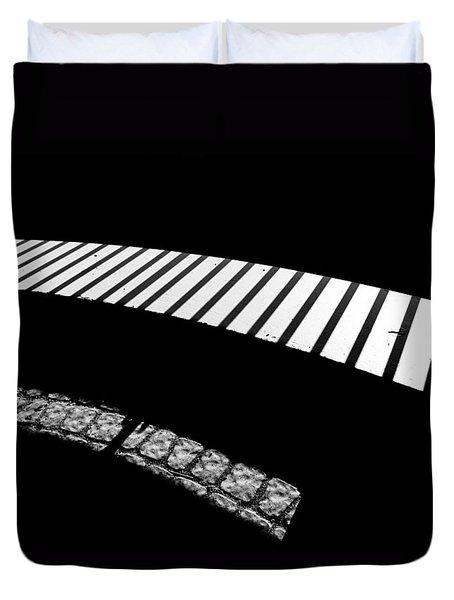 Moonlight Under The Highway Duvet Cover by Bob Orsillo