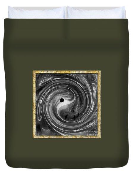 Duvet Cover featuring the digital art Moonlight Walkers by Ann Calvo