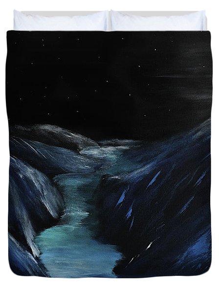 Moonlit Glacier Duvet Cover
