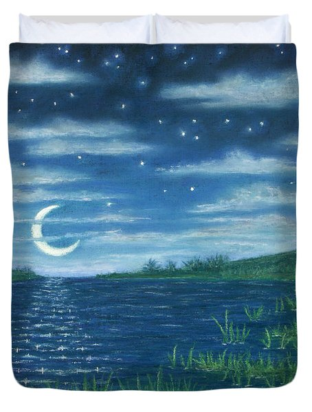 Moonlit Lagoon Duvet Cover