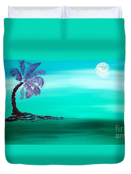 Moonlit Palm Duvet Cover by Jacqueline Athmann