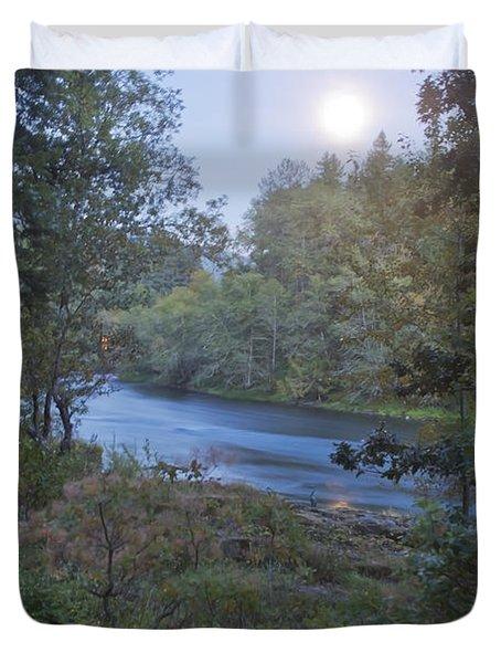 Moonlit River Duvet Cover by Belinda Greb