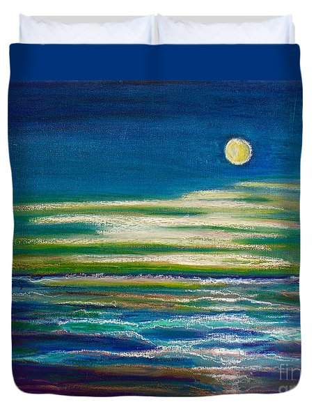 Moonlit Tide Duvet Cover