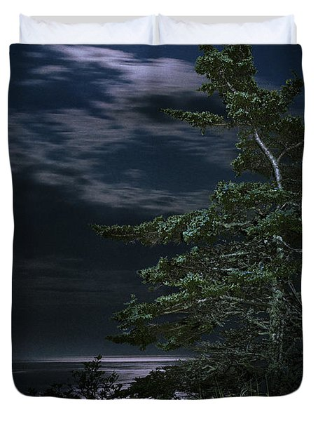 Moonlit Treescape Duvet Cover by Marty Saccone
