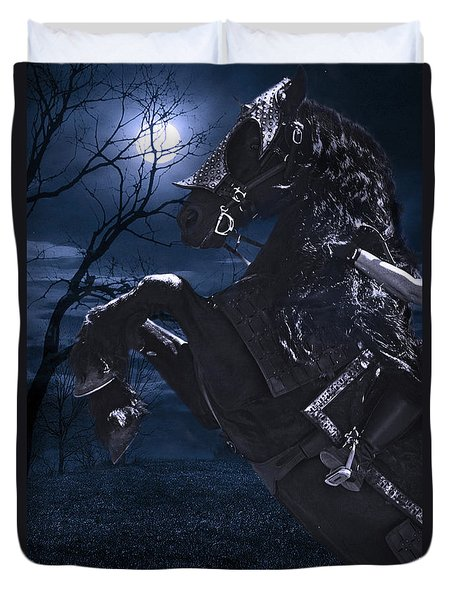 Moonlit Warrior Duvet Cover