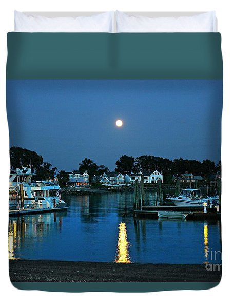 Moonlit Waters - Super Moon 2014 Duvet Cover