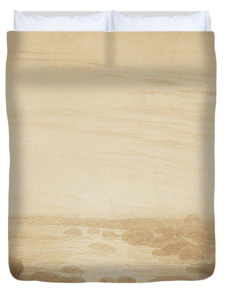 Moonrise On The Sea Duvet Cover by Caspar David Friedrich