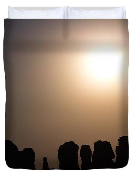 Moonrise Over Eden Duvet Cover