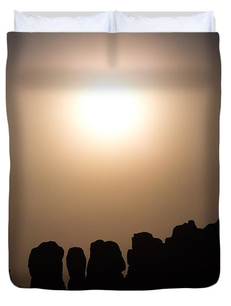 Moonrise Over Eden Duvet Cover
