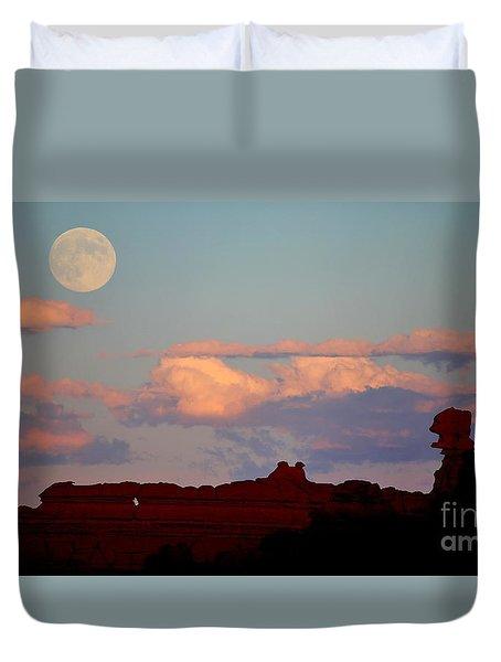 Moonrise Over Goblins Duvet Cover