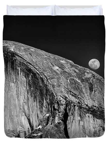 Moonrise Over Half Dome Duvet Cover