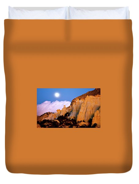 Moonrise Over The Kaiparowits Plateau Utah Duvet Cover