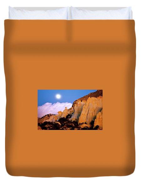 Moonrise Over The Kaiparowits Plateau Utah Duvet Cover