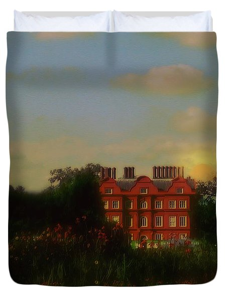 Moonrise - Sunset Duvet Cover by RC DeWinter
