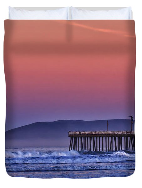 Moonset Duvet Cover