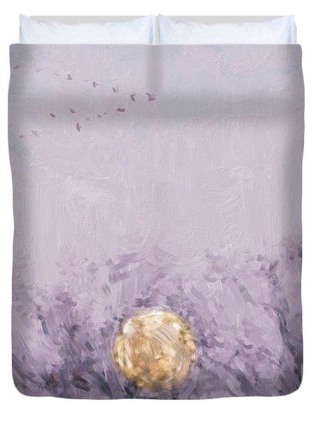 Moonset Dawn Duvet Cover