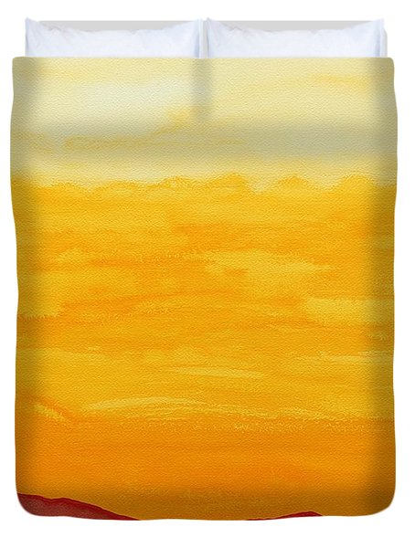 Moonshine Original Painting Sold Duvet Cover by Sol Luckman