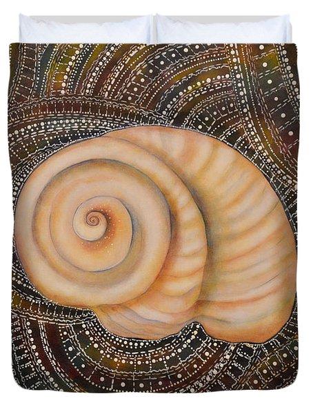Moonsnail Mandala Duvet Cover