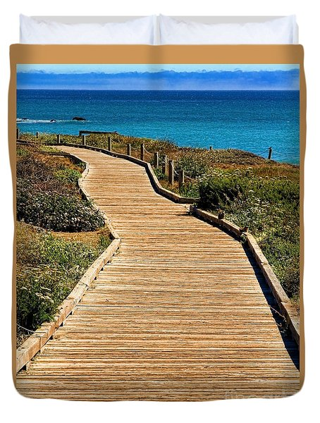 Moonstone Beach Park By Diana Sainz Duvet Cover