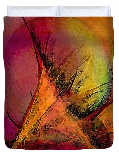 Moonstruck-abstract Art Duvet Cover