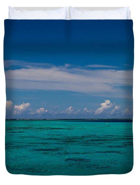Moorea Lagoon No 16 Duvet Cover by David Smith