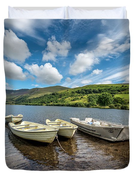 Moored Boats  Duvet Cover by Adrian Evans