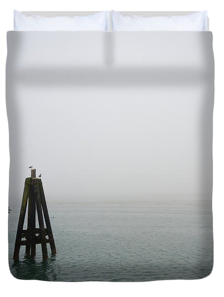 Duvet Cover featuring the photograph Moored by CML Brown