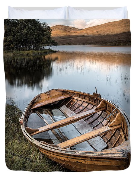 Moored On Loch Awe Duvet Cover