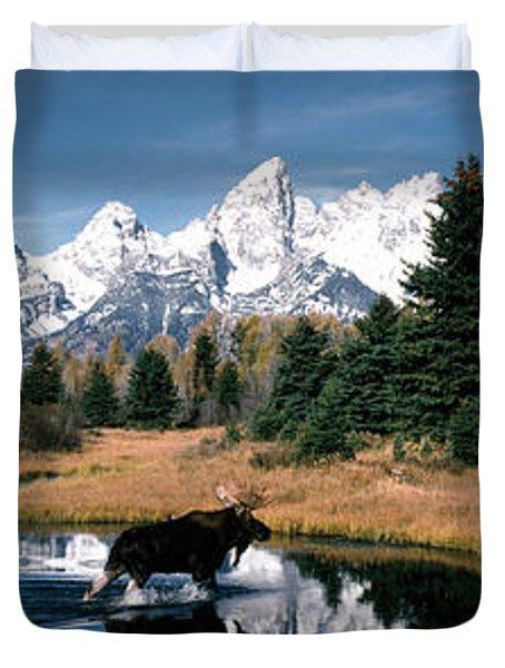 Moose & Beaver Pond Grand Teton Duvet Cover
