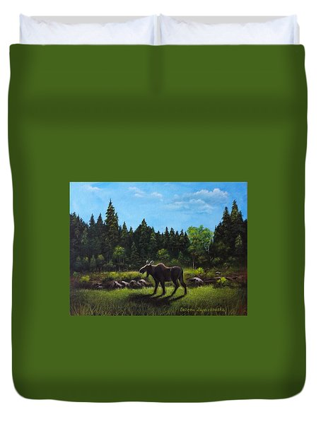 Moose Duvet Cover