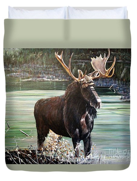Moose County Duvet Cover