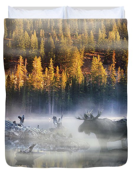 Moose Lake Duvet Cover