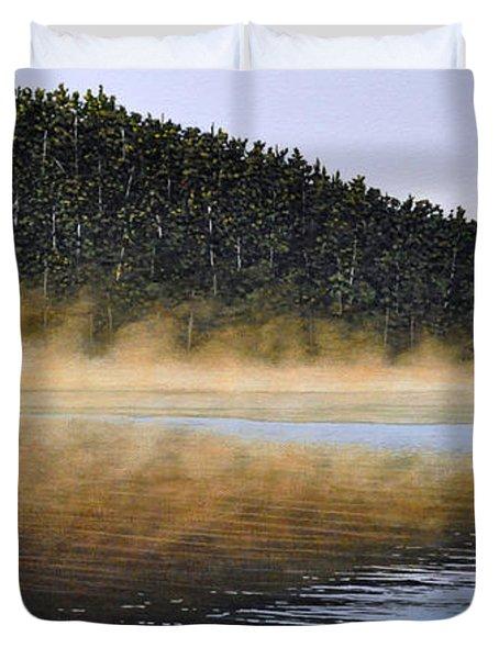 Moose Lake Paddle Duvet Cover