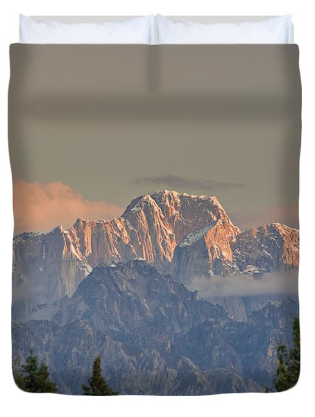 Moose's Tooth Duvet Cover by Kevin G Smith