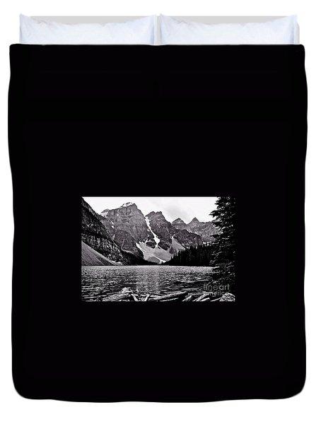 Moraine Lake Duvet Cover by Linda Bianic