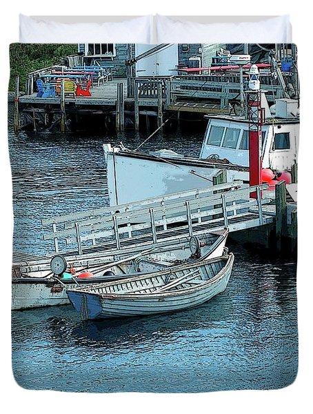 More Boats Duvet Cover by Kathleen Struckle