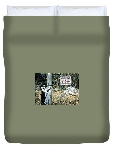Duvet Cover featuring the painting More Civil Disobedience by Donna Tucker