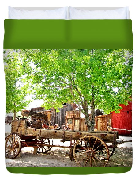 Duvet Cover featuring the photograph More Old West  by Marilyn Diaz