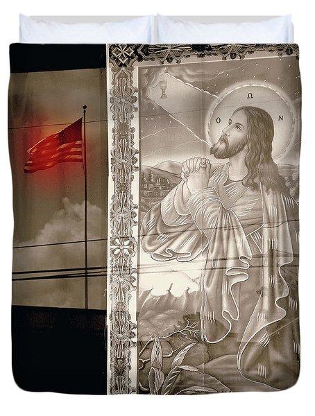 More Prayers For The Nation Duvet Cover by Joe Jake Pratt