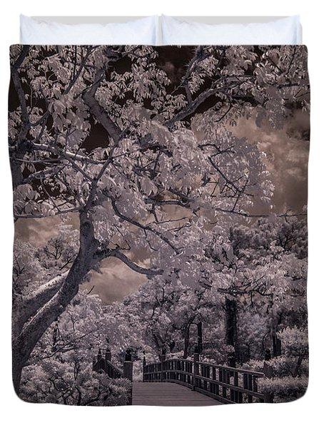 Morikami Gardens - Bridge Duvet Cover