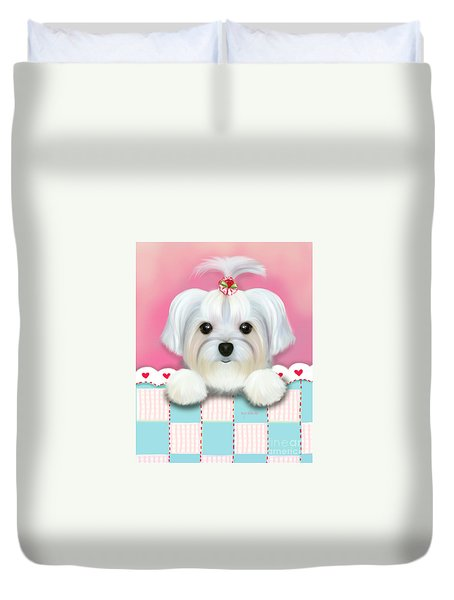 Morkie Shelly Duvet Cover by Catia Cho