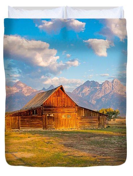 Mormon Row And The Grand Teton Duvet Cover