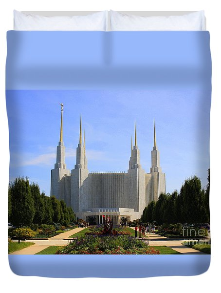 Mormon Temple Dc Duvet Cover