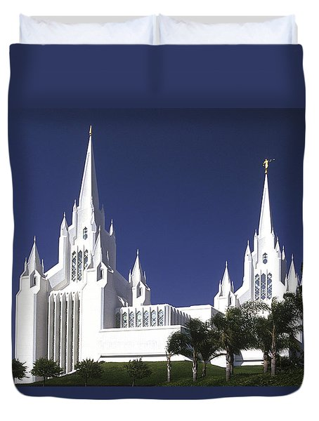Mormon Temple Duvet Cover by Paul W Faust -  Impressions of Light