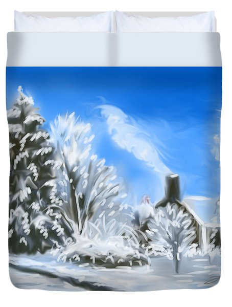 Morning After The Snowstorm  Duvet Cover